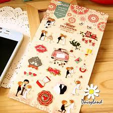 wedding planner school korean style happy sweet time kawaii wedding planner stickers