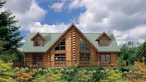 Glass Front House Log Home Design Plan And Kits For Sawtooth