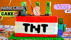vlog 4 preparando un pastel de minecraft tnt cake youtube