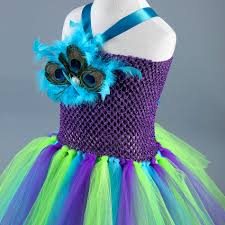peacock halloween costumes for kids aliexpress com buy new peacock tutu dress girls feathers pageant