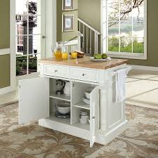 Extra Long Kitchen Island Amazon Com Crosley Furniture Kitchen Island With Butcher Block