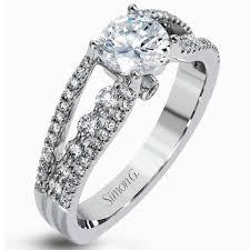 tension engagement rings simon g 18k tension set style engagement rings