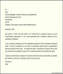 inquiry cover letter templatezet