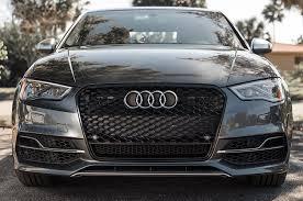 black audi rs3 mesh style grille black trim audi 8v a3 s3 2015 av