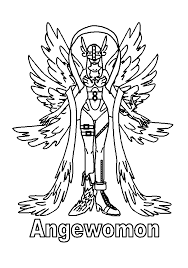digimon coloring pages gatomon evolution angewomon coloringstar
