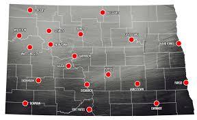 Nd Map With Cities Fuse North Dakota Ending Human Trafficking In North Dakota