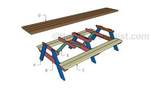 Plans Building Wooden Picnic Tables by 12 U0027 Picnic Table Plans Howtospecialist How To Build Step By