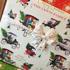 personalized gift wrapping paper personalized christmas wrapping paper loralee lewis