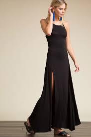memdalet women u0027s sleeveless lbd slit front jersey maxi dress