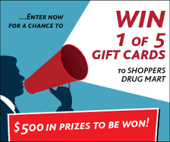 win gift cards win 100 shoppers mart gift card 5 prizes to be won