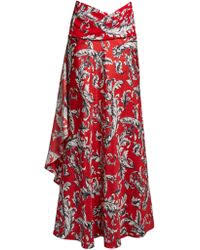 Draped Asymmetrical Maxi Skirt Shop Women U0027s J W Anderson Skirts From 221 Lyst