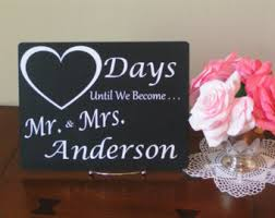 wedding countdown for engagement gift idea wedding countdown sign days