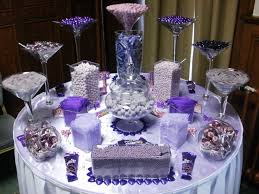 Candy Table For Wedding Wedding Table Decorations Purple And Silver 6006