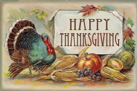 a happy thanksgiving greeting to you vintage profile message