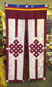 malas wall hangings door curtains khatas tibetan split lacy