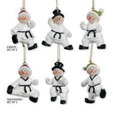 snowman martial arts ornament sets snowman martial arts