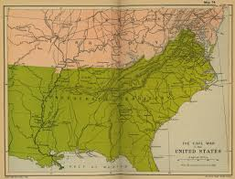 map us states during civil war 1861 mrlincolnandfreedomorg confederate states of america map