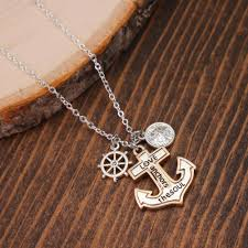 Quot Love Anchors The Soul - love anchors the soul necklace anchor necklace compass charm