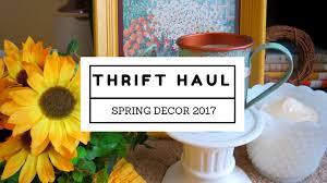 spring decor thrift haul hello yellow 2017 youtube