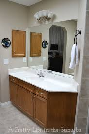 Frame Your Bathroom Mirror Frame Your Mirror A Pretty Life In The Suburbs