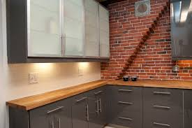 faux brick backsplash in kitchen kitchen ideas diy faux brick wall brick backsplash false brick
