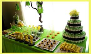 green baby shower decorations green and yellow baby shower decorations s44design
