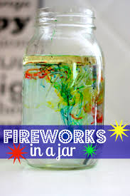 fireworks in a jar fun science experiments science experiments