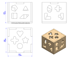 shaped box toy plan