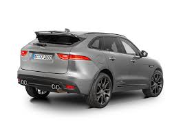 jaguar f pace black ac schnitzer aftermarket kit gives jaguar f pace extra growl