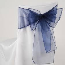 navy blue chair sashes organza chair sashes wholesale cheap wedding chair sashes