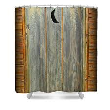 outhouse door shower curtain for sale by john malone