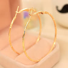 gold circle earrings simple gold silver plated big hoop earring for women statement