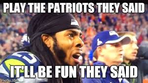 Patriots Lose Meme - image tagged in superbowl patriots seahawks lose imgflip