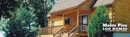 maine pine log homes