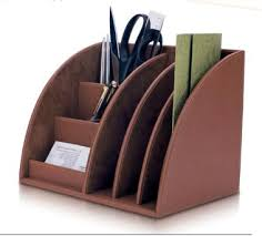 Leather Desk Organizers Pin By Joelene White On Organizing Pinterest Organizations