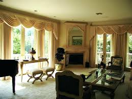 country style living room valances curtains modern drapes for