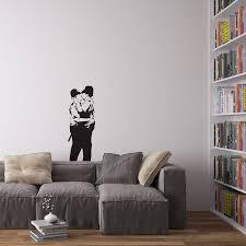 tesco canvas wall art shenra com banksy policemen in love vinyl wall art decal by vinyl revolution