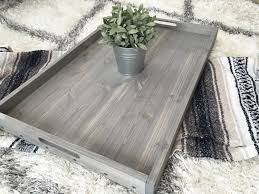 ottoman trays home decor rustic wooden ottoman tray coffee table tray serving tray wooden