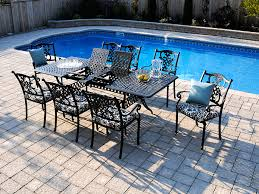 Outdoor Furniture Toronto by Cast Aluminum Extendable Table Insideout Patio Furniture Toronto