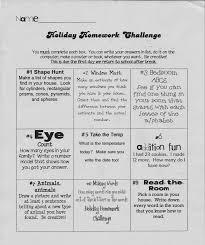 homework challenge winter