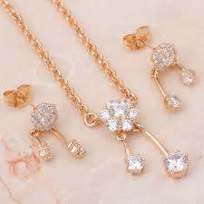 gold plated necklace pendants images Really delicate design gold tone necklaces pendants earrings jpg
