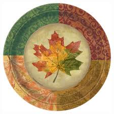 rustic fall paper plates fall supplies