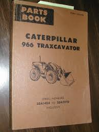 cat caterpillar 966 parts manual book catalog wheel loader sn