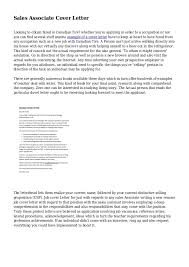 sample cover letter for resume retail sales best resumes