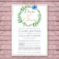 classic wedding invitation print at home file or printed