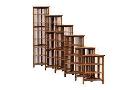 Walnut Corner Bookcase Country Mission Corner Bookcases Town Country Furniture