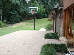 backyard basketball court diy home outdoor decoration