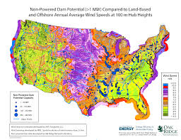 Printable Map Of The United States Non Powered Dam Resource Assessment Nhaap Ornl Gov