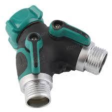 Toch Garden Hose Splitter 2 Way Y Valve Garden Hose Shut Off Valve 3 4 Inch Garden Hose 2 Way Splitter Valve Water Pipe Faucet