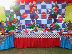 super mario bros party decorations balloon towers cutouts props